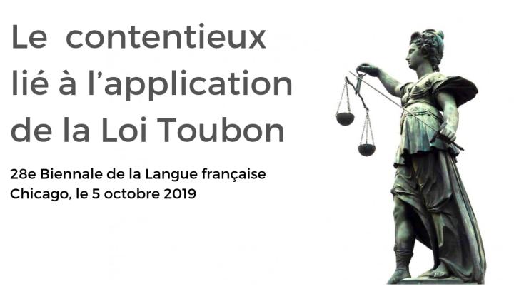 Difficultés des associations francophones dans le cadre du contentieux lié à l'application de la loi Toubon